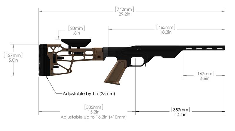 mdt lss chassis system bolt action rifle chassis sniper rifle chassis. Black Bedroom Furniture Sets. Home Design Ideas