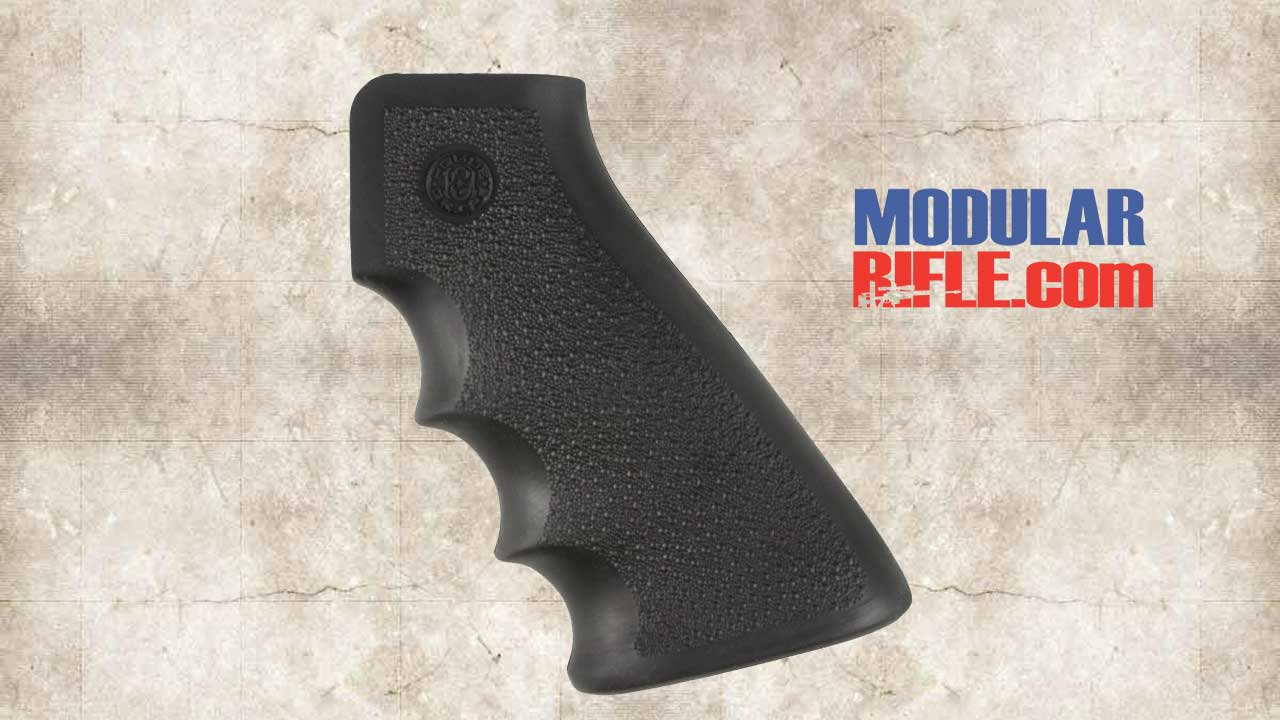 Picture of a Hogue OverMolded Rubber Grip with Finger Grooves Black