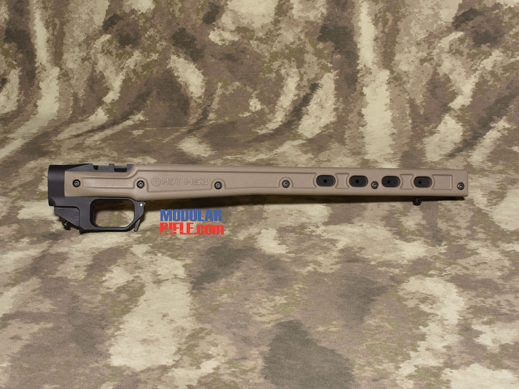 Picture of a MDT HS3 Remington 700 Rifle Chassis FDE