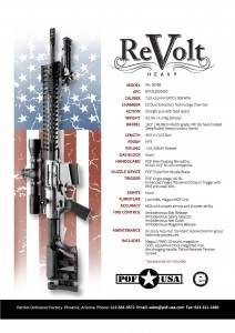 POF ReVolt Heavy Spec Sheet www.modularrifle.com