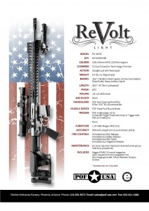 ReVolt Light Spec Sheet www.modularrifle.com