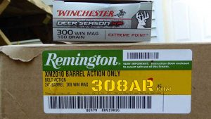 Remington M2010 Barreled Action Unboxing, Product Label Picture