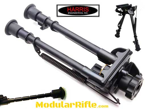 "Harris S-LM Bipod Leg Notch Sling Swivel Stud Mount 9"" to 13"" Black | Harris HBLMS"