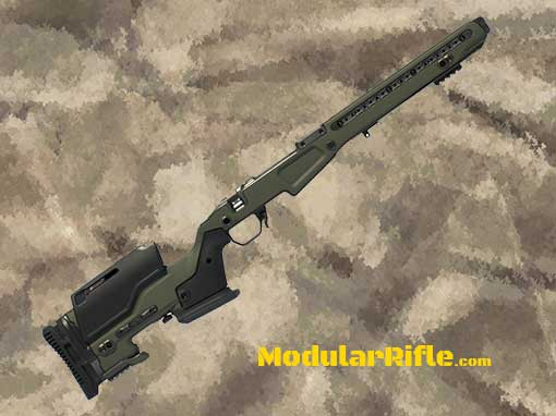 J.Allen JAE 700 Rifle Chassis System Olive Drab JAE-700-R-RAILED-OD-SA