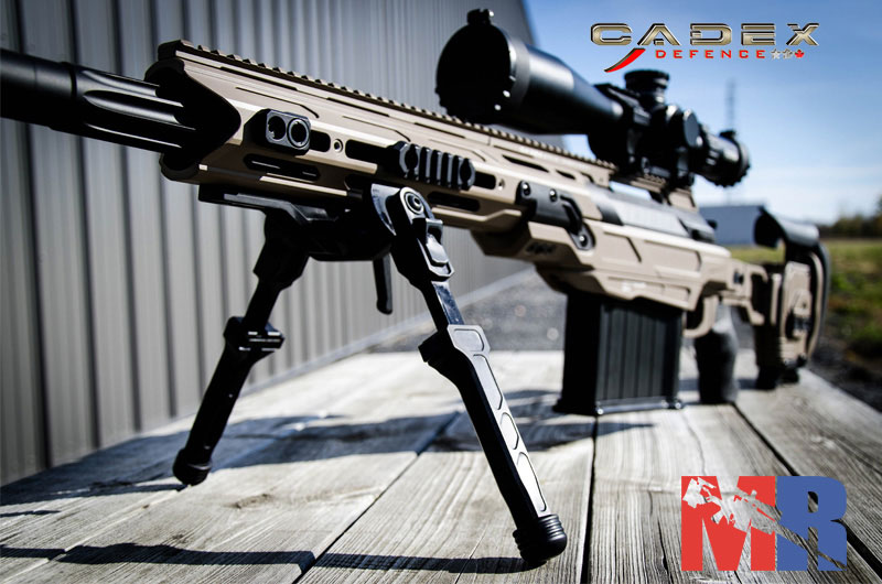 Picture of a Cadex Falcon Bipod Installed On A Rifle