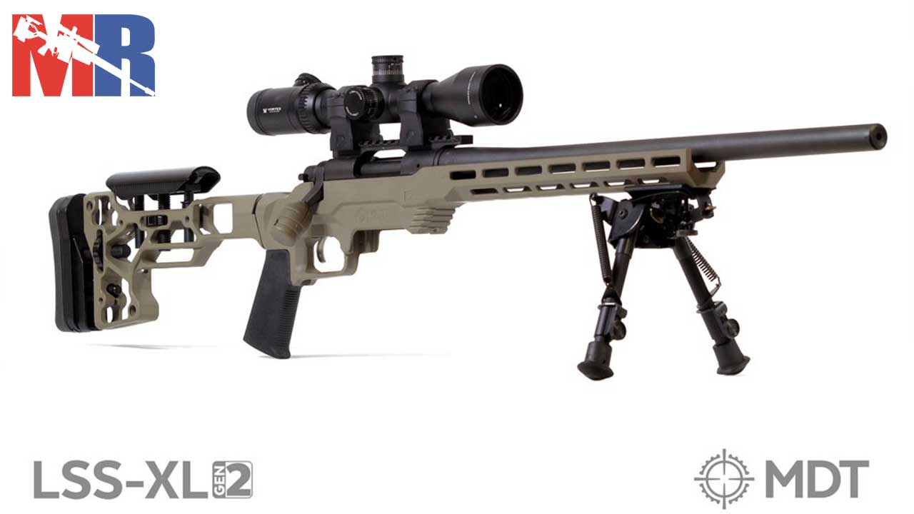 Picture of a MDT LSS XL Gen2 Rifle Chassis System FDE