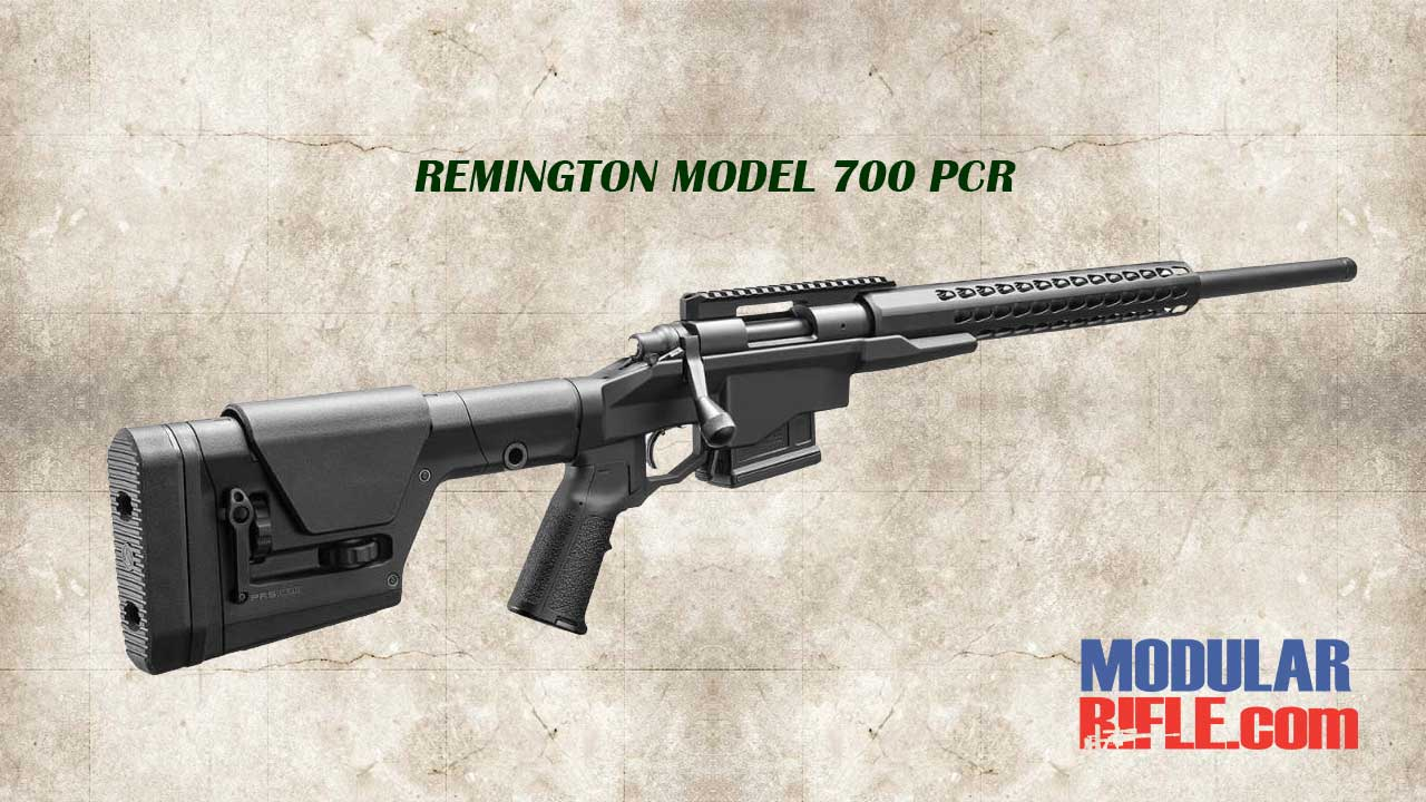 PICTURE OF A REMINGTON 700 PCR PRECISION CHASSIS RIFLE