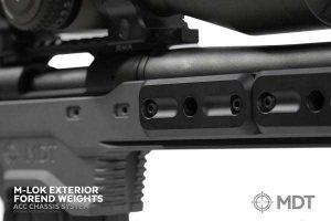 MDT Adjustable Core Competition Chassis System M-Lok Adjustable Forend Weights