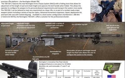 Remington 700 Enhanced Sniper Rifle ESR-1 86679
